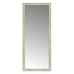 """Posters 2 Prints, LLC - 23"""" x 55"""" Libretto Antique Silver Custom Framed Mirror - 23"""" x 55"""" Custom Framed Mirror made by Posters 2 Prints. Standard glass with unrivaled selection of crafted mirror frames.  Protected with category II safety backing to keep glass fragments together should the mirror be accidentally broken.  Safe arrival guaranteed.  Made in the United States of America"""