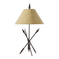 Stone County Iron Works - Quapaw Iron Table Lamp - Stone County Iron Works 901-630 Quapaw Iron Lodge/Rustic Table Lamp