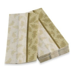 Boston International, Inc. - Foliole Cream Guest Towel - These guest towels are beautiful and versatile. Use them as guest towels in a bathroom or as buffet napkins when you entertain.