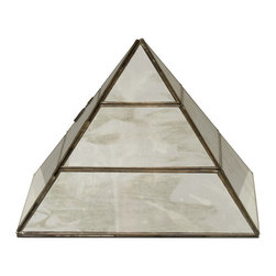 Worlds Away - Worlds Away Large Antique Miror Pyramid PYRAMID AMLG - Worlds Away Large Antique Miror Pyramid PYRAMID AMLG