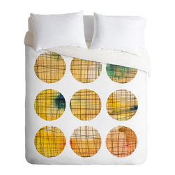 """Modern 100% Polyester Duvet Cover, Queen 88"""" X 88"""" - Spruce up your bedroom with a little math this season. This gorgeous duvet cover blends geometry and art together to create a graphic masterpiece."""