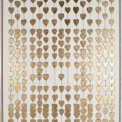 Natural Curiosities Cartier Heart Strings, Gold Leaf - Here's some heart glam for your walls. I adore this fun and glistening piece that reminds me of what really matters.