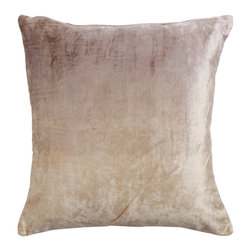 """Best Home Fashion - Ombre Velvet Pillow Cover- 18"""" x 18"""", Beige - Stay trendy with these beautifully soft velvet ombré pillows. The perfect décor pieces that can complement any couch or chair. Lined with cotton in the back, these pillows have just the right amount of velvet and not too much shine to be the accent piece your couch needed!"""