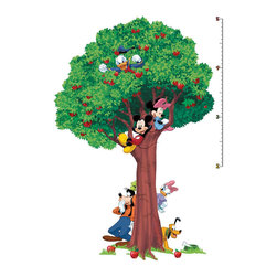 York Wallcoverings - Disney Mickey Mouse Friends Tree Large Growth Chart Sticker - Features: