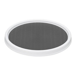 Large Turntable - Lazy Susan action with durable nonslip pad for cabinet, counter, table or desk. Multifunctional turntable spins spices and condiments, decoratifs and flavorings, even stand computers.