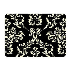 Bungalow Flooring Damask Indoor / Outdoor Mat - 1.83 x 2.58 ft. - A white floral design against the solid background of the Bungalow Flooring Damask Indoor / Outdoor Mat - 1.83 x 2.58 ft. creates a gorgeous and dramatic effect. This bold yet pretty look is perfect for any entrance into your home. Machine-made using durable polyester, this modern mat is equipped with a non-skid backing, making it everything you want - durable, functional, and chic.About Bungalow FlooringAs a servicer of the gift and wholesale industry, Bungalow Flooring made their mark selling to more than 50 mail order, regional, and internet retailers. Serving as the retail consumer arm of The Andersen Company, a division of Georgia-based Mountville Mills, Inc., Bungalow Flooring is proud to be a domestic manufacturer of a broad range of floor covering products. Unparalleled in creative design, innovative products, service and fulfillment, only Bungalow Flooring offers such a wide array of floor coverings including personalized doormats, machine washable MicroFibres for the bath and kitchen, as well as molded polypropylene rugs.