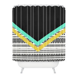 DENY Designs - Allyson Johnson Mixed Aztec 1 Shower Curtain - Who says bathrooms can't be fun? To get the most bang for your buck, start with an artistic, inventive shower curtain. We've got endless options that will really make your bathroom pop. Heck, your guests may start spending a little extra time in there because of it!