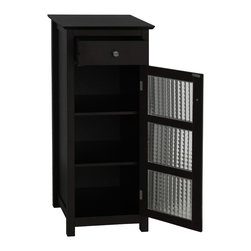 None - Windham Floor Cabinet with Door and Drawer - Elegant Windham floor cabinet will enhance your home decorDecorative piece of furniture adds an attractive storage space to any bathroomCabinet provides much-needed room for toiletries and towels