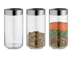 Alessi - Julieta Jar by Alessi - Clearly classy, the Alessi Julieta Jar is perfect for storing any number of kitchen items, from beans and seeds to seasonings. Designed by Lluis Clotet, the Julieta Jar is a simple piece in stainless steel and glass. Features a hermetic lid. Available in several sizes. Alessi, known as the Italian design factory, has manufactured household products since 1921. The stylish and fun items offered are the result of contemporary partnerships with some of the world's best designers of unique and modern home accessories.