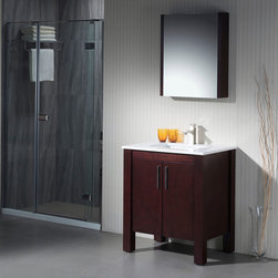Modern Bathroom Vanities - The Parsons collection has a versatile style that fits into both transitional and contemporary settings. The beauty of this vanity lies in its simplicity, with straight lines and right angles. It is ideal for homeowners who want a clean and understated look. The storage space is maximized with the use of an internal wooden shelf.