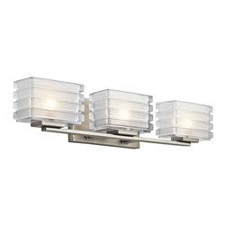 Kichler 3-Light Bath Light - Brushed Nickel - Three Light Bath