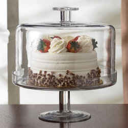 Glass Cake Plate With Clear Dome - Could anything be more functional than a cake stand with a dome?