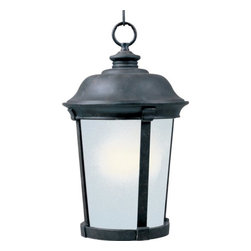 Maxim Lighting - Maxim Lighting Dover EE Traditional Outdoor Hanging Light X-ZBSF99058 - This Maxim Lighting Dover EE traditional outdoor hanging light is a simple, yet elegant piece. It's an energy efficient fixture that features a die cast aluminum frame in a rich, bronze finish and a frosted seedy glass shade. It's sure to enhance the look of any outdoor space, and cast a soft and pleasant light.