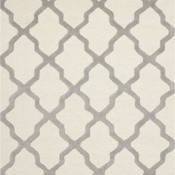 """Safavieh - Safavieh Cambridge CAM121Y 2'6"""" x 12' Ivory, Silver Rug - Bring classic style to your bedroom, living room, or home office with a richly-dimensional Safavieh Cambridge Rug. Artfully hand-tufted, these plush wool area rugs are crafted with plush and loop textures to highlight timeless motifs updated for today's homes in fashion colors."""
