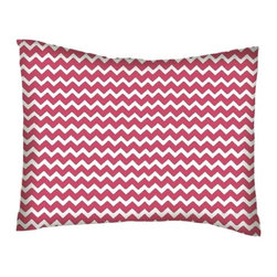 SheetWorld - SheetWorld Twin Pillow Case - Percale Pillow Case - Hot Pink Chevron Zigzag - Pillow case is made of a durable all cotton percale material. Fits a standard twin size pillow. Features a Hot Pink Chevron Zigzag print.