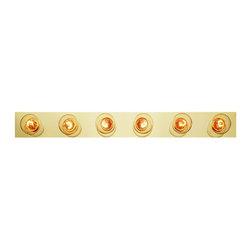 Joshua Marshal - Six Light Polished Brass Vanity - Six Light Polished Brass Vanity