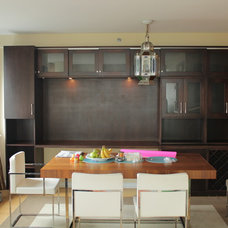 Contemporary Dining Room by R J Hoppe Inc