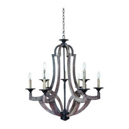 Jeremiah Lighting - Jeremiah Lighting 35129 Winton 9 Light Mid-Sized Chandelier - Lamping Technology: