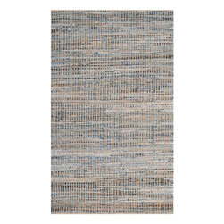 Safavieh - Samos Natural Fiber Rug, Natural / Blue 6' X 9' - Construction Method: Hand Woven. Country of Origin: India. Care Instructions: Vacuum Regularly To Prevent Dust And Crumbs From Settling Into The Roots Of The Fibers. Avoid Direct And Continuous Exposure To Sunlight. Use Rug Protectors Under The Legs Of Heavy Furniture To Avoid Flattening Piles. Do Not Pull Loose Ends; Clip Them With Scissors To Remove. Turn Carpet Occasionally To Equalize Wear. Remove Spills Immediately. Think coastal living and casual beach house style with rugs so classic they will even work in the city. Safavieh's natural fiber rugs are soft underfoot, textural, natural in color and woven of sustainably-harvested sisal and sea grass, or biodegradable jute fibers twice-washed for unrivaled softness and beauty.