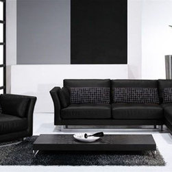 Elegant 100% Italian Leather Sectional - Features: