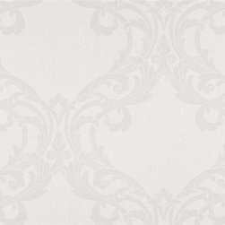 Walls Republic - Romantic Warm Grey Wallpaper S43734, double roll - Romantic is a large scale traditional wallpaper with curving line work. Use it for a luxurious and grand look in your bedroom or living room.