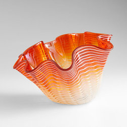 Cyan Design - Teacup Party Bowl-Large - Orange - Large teacup party bowl - orange