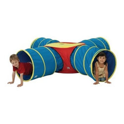 "Institutional Tunnels of Fun Junction Set - About Pacific Play TentsPacific Play Tents is a privately owned company dedicated to providing creative, high-quality and imaginative products for indoor and outdoor use. Each item is painstakingly tested to ensure long lasting fun and structures designed to last. The company's devotion to this is consistently validated through more and more awards. They have designed their tents and tunnels to be interchangeable. The company constantly strives to make better, more imaginatively designed products for you to enjoy. This dedication combined with their unparalleled customer service and focus on quality has elevated them to be recognized as the """"best of the best."""""