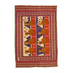 eSaleRugs - 6' 5 x 9' 5 Pictorial Sumak Rug - SKU: 22139484 - Hand Woven Pictorial Sumak rug. Made of 100% Wool. Brand New.