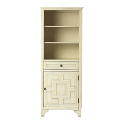 Home Decorators Collection - York Linen Cabinet - Organize your morning prep accessories with our York Linen Cabinet. The striking molding pattern will add a distinctive look to your bath. Three shelves, one drawer and one door. Frame and feet constructed of nanmu wood. Your choice of antique finish. Round metal hardware. Coordinates with the other items in our York Collection.