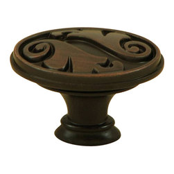 Stone Mill Hardware - Stone Mill Hardware Oil Rubbed Bronze Oakley Cabinet Knob - Stone Mill Hardware - Oil Rubbed Bronze Oakley Cabinet Knob
