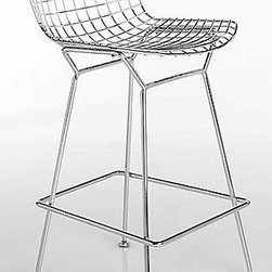 Bertoia Bar Stool with Seat Pad | Design Within Reach - Yes, it will probably give you a little bit of waffle butt if you are wearing shorts, but it's worth it. The Bertoia barstool is a classic that will never go out of style, and it's built to last.