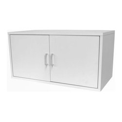 Foremost - Modular Large 2 Door Cube White - Our modular PVC laminate veneer White large cube with double door is an amazing storage solution. Put away your items behind closing swing doors. Sturdy and stackable for maximum durability. Holds up to 200 pounds per assembled unit. Hollow-core construction makes the cube weigh 50% less then traditional particle board. Unlimited combination options so you can create exactly the system you need.