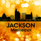 Jackson Golden Bokeh  Print - Show off your city pride with this mixed-media artwork. Combining digital and photographic layers, it captures all the charm of the City with Soul that is birthplace to football legend Brett Favre and country music star Faith Hill.