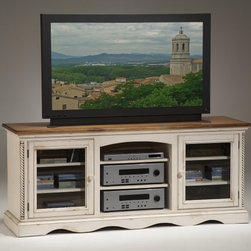 Hillsdale Furniture - Hillsdale Wilshire 66 Inch Entertainment Console - The Wilshire collection features a blend of cottage styling withCountry accented details. The blend of Americana and EnglishCountry gives the Wilshire collection a look and feel that will enhance any home. The craftsmanship is evident in each piece. Opening a drawer is a reflection of old world craftsmanship  complete with tongue and groove drawer bottoms  English dovetail drawer construction and thick solid wood drawers. Finishes have been painstakingly applied to give years of enjoyment.