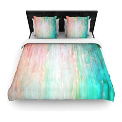 """Kess InHouse - Iris Lehnhardt """"Color Wash Teal"""" Blue Turquoise Cotton Duvet Cover (King, 104"""" x - Rest in comfort among this artistically inclined cotton blend duvet cover. This duvet cover is as light as a feather! You will be sure to be the envy of all of your guests with this aesthetically pleasing duvet. We highly recommend washing this as many times as you like as this material will not fade or lose comfort. Cotton blended, this duvet cover is not only beautiful and artistic but can be used year round with a duvet insert! Add our cotton shams to make your bed complete and looking stylish and artistic!"""