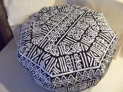 eclectic ottomans and cubes by Etsy