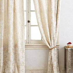 """Anthropologie - Coqo Floral Curtain - Tunnel loop constructionLinen, nylonMachine wash50""""WImported"""
