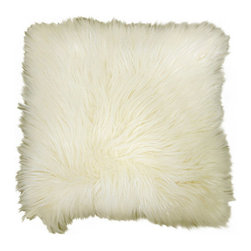 Better Homes and Gardens Arctic Fur Decorative Pillow, Ivory - Get ready for chilly nights, because winter is around the corner! Cozy up with this fuzzy pillow next to a roaring fire.