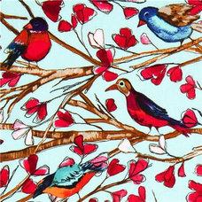 Fabric Michael Miller fabric Wing Song bird flower branch