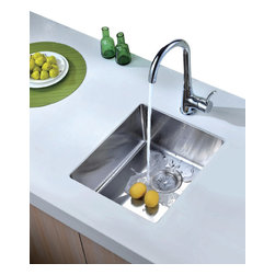 Dawn Kitchen & Bath - Dawn BS131507 15 inch Single Bowl Undermount 18 Gauge Stainless Steel Bar Sink - Bar Sink