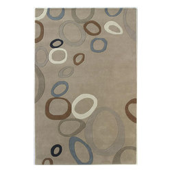 """Dynamic Rugs - Dynamic Rugs Nolita 1306-110 (Beige) 6'7"""" x 9'6"""" Rug - Dynamic Rugs meets Posh* Fashionation design. The result is the cutting edge look and explosion of colors that create the new Nolita rug collection. Rugs that make a statement and set the tone for the entire room! Each rug is handmade. The designs are created by hand tufting each wool yarn into the canvas creating a 100% wool pile rug. Handmade in India. Each rug is individually washed after construction to add sheen to the surface."""