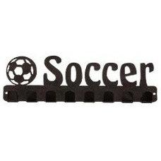 Lizatards Soccer Medal Hanger Rack - Black Aric's room