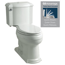 KOHLER Devonshire White 1.28 GPF High Efficiency WaterSense Elongated 2-Piece To