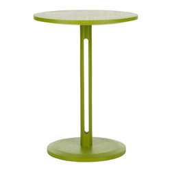 Safavieh - Bartel End Table - Spring into action. The Bartel end table brings a burst of color to any room in need of a break from a monochromatic mood. Its sleek contemporary style is an instant uplift in sustainable Bayur wood with green finish.