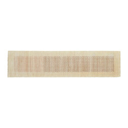 1800-Get-A-Rug - Modern Gabbeh Striped Runner Hand Knotted Rug Sh9291 - About Modern & Contemporary