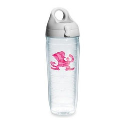 Tervis - Tervis University of Notre Dame 24-Ounce Water Bottle with Lid in Neon Pink - The University of Notre Dame water bottle is a great way for a girl to proudly represent her favorite school. The neon pink logo and double-wall insulation make the water bottle perfect for a tailgate party, dorm or watching the big game anywhere.