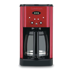 Cuisinart - Cuisinart DCC-1200MR Brew Central Metallic Red 12-cup Programmable Coffeemaker - The Cuisinart brew central coffeemaker is programmable from start to finish,with a variable heater plate for temperature control. This advanced coffee maker has a time-to-clean monitor and features a modern metallic red finish.