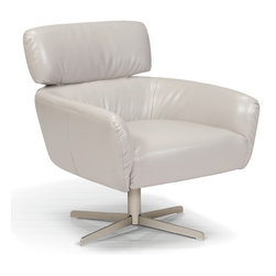 ARTeFAC - KR-8852 Tailored Bonded Leather Lounge Chair - KR-8852 Tailored Bonded Leather Lounge Chair