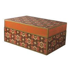 Piling Palang - Unique Rectangular Box by Piling Palang - Old World meets new with this rectangular box that combines Asian motifs with contemporary influences. Use it in the bedroom or master bath to store jewelry and tiny trinkets or on your desktop to hold supplies.