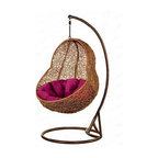 Zuri Furniture - Peanut Rattan Outdoor Euro Swing Chair -725 - Curl up with a good book in these exquisitely comfortable swing chairs. It's your choice of twelve different styles and shapes, just perfect for relaxing! With so many colors and shapes, designing is a snap! For best durability results, please use this item in covered locations. PLEASE NOTE: Umbrella not included with purchase.